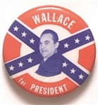 Wallace Confederate Flag Celluloid