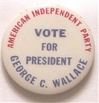 George Wallace American Independent Party