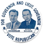 Rockefeller and Wilson New York Campaign Pin