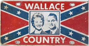 George and Lurleen Wallace Confederate Flag License