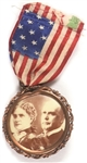 William and Ida McKinley Sepia Badge and Ribbon
