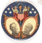 Taft, Sherman Rare Lady Liberty and Shield Jugate