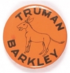 Truman, Barkley Rare Orange Donkey Pin