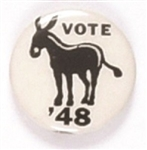 Truman Vote Democratic in '48 Donkey