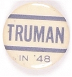 Truman in '48 Blue and White Celluloid