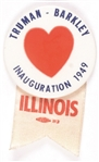 Truman-Barkley Big Heart 1949 Inauguration Pin, Illinois Ribbon