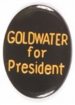 Goldwater for President Scarce Black, Gold Pin