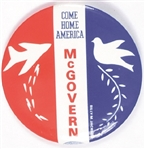 Come Home America McGovern Bomber and Dove Anti Vietnam War Pin