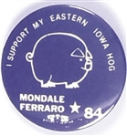 Mondale, Ferraro I Support My Eastern Iowa Hog