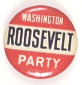 Roosevelt Washington Party 1912 Celluloid