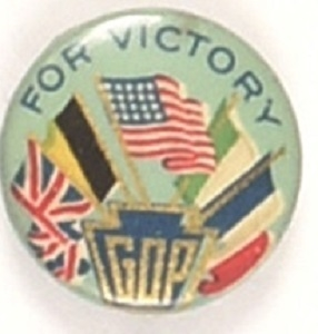 Hughes WW I Victory Allied Flags Pin