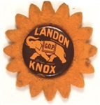 Landon, Knox Celluloid with Felt Flower