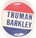 Truman, Barkley Scarce Red, White and Blue Celluloid