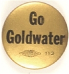 Go Goldwater Gold and Black Celluloid