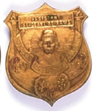 Hughes 1916 Convention Badge
