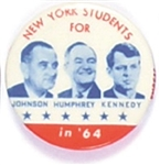 Johnson, Humphrey, Kennedy New York Orange Coattail