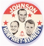 Johnson, Humphrey, Kennedy New York Coattail
