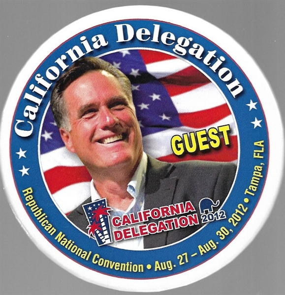 Romney California Delegation Guest