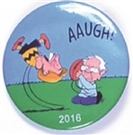 Sanders and Hillary Charlie Brown Pin by Brian Campbell
