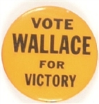 Vote Wallace for Victory Rare 1968 Pin
