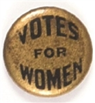Votes for Women Gold Pinback
