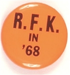 RFK in 68 Bright Orange Pin