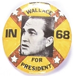 Wallace in 68 Rare Confederate Flag Pin