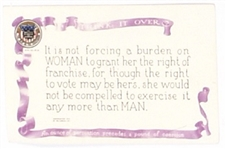 Suffrage Right of Franchise Postcard