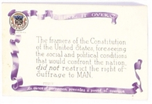 Suffrage Framers of the Constitution Postcard