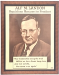 Alf M. Landon Republican Nominee for President
