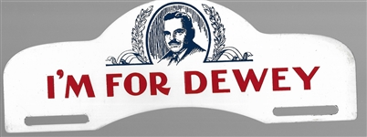 I'm for Dewey License Plate