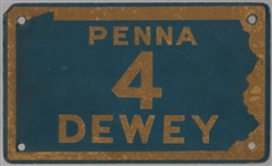 Penna for Dewey License Plate