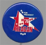 Reagan in 1976 Scarce Smaller Star Version