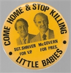 McGovern Come Home and Stop Killing Little Babies