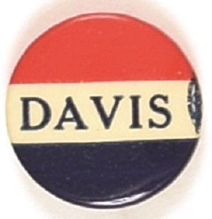 John W. Davis Red, White and Blue Celluloid