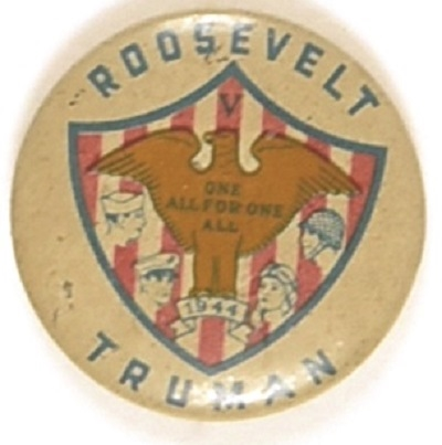 Roosevelt, Truman All For One, One for All Shield and Eagle Pin