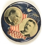 McKinley, Roosevelt Rare Blue Flag and Eagle