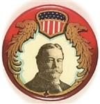 Taft Gorgeous Shield, Red Border Celluloid