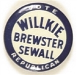 Willkie, Brewster, Sewall Maine Coattail