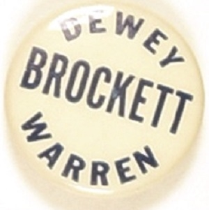 Dewey, Warren, Brockett Arizona Coattail