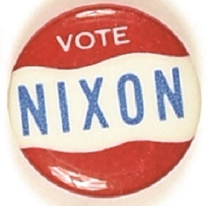 Vote Nixon Red, White, Blue Celluloid