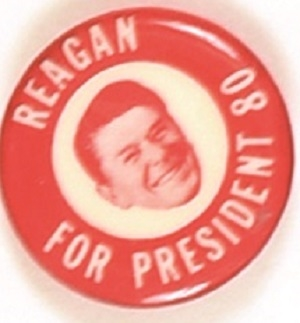 Reagan for President Red, White Celluloid