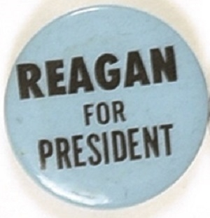 Reagan for President Blue, Black Celluloid