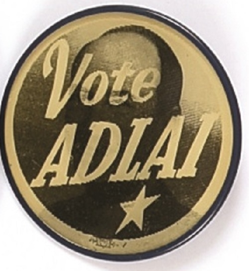 Stevenson Vote Adlai Flasher