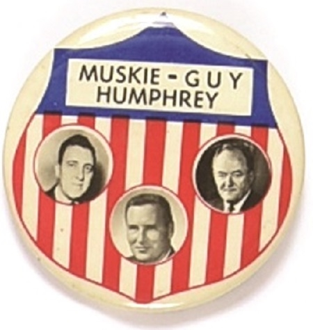 Humphrey, Muskie, Guy North Dakota Coattail