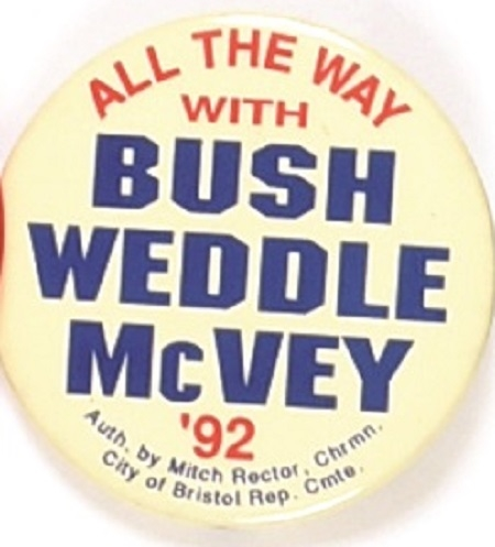 Bush, Weddle, McVey Virginia Coattail