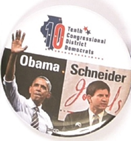 Obama, Schneider Illinois Coattail