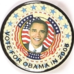 Vote for Obama in 2008 Colorful Picture Pin