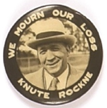 Knute Rockne We Mourn Our Loss
