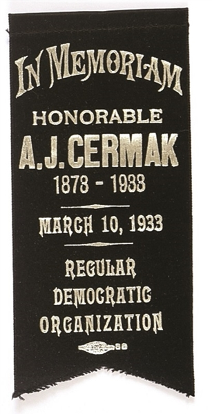 Anton Cermak Memorial Ribbon
